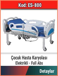 Elektrikli çocuk hasta yatağı