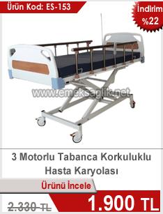 3 Motorlu Asansörlü Hasta Karyolası