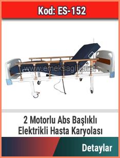 Abs Başlıklı 2 Motorlu Hasta Karyolası