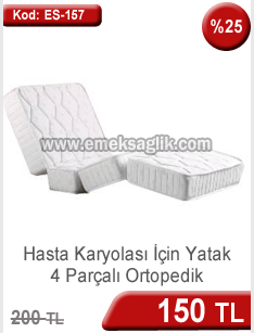 Hasta karyolası için 4 parçalı ortopedik hasta yatağı