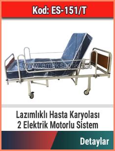 Lazımlık aparatlı hasta karyolası