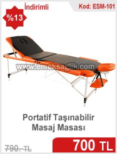 Çantalı taşınabilir masaj masası